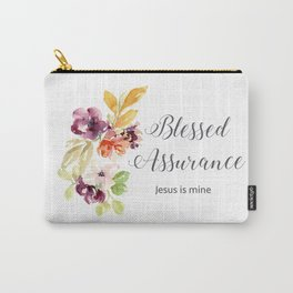 Blessed Assurance with Gray Letters Carry-All Pouch