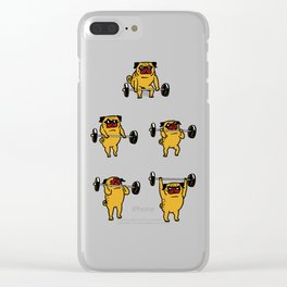 Clean and Jerks Pug Clear iPhone Case