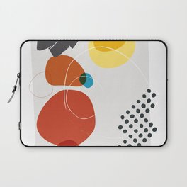 Shape & Hue Series No. 2 – Yellow, Orange & Blue Modern Abstract Laptop Sleeve
