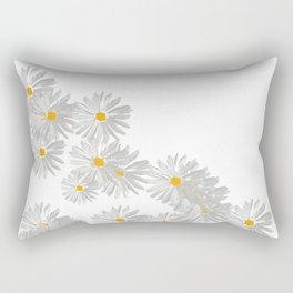 Flower white minimal margarita daisy Rectangular Pillow