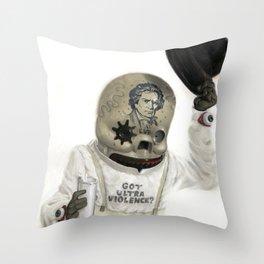 Clockwork Calavera Throw Pillow