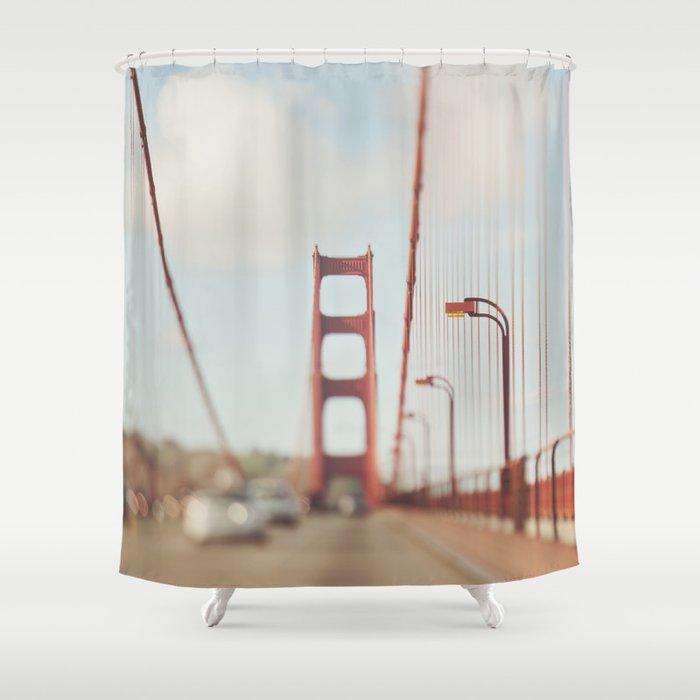 Golden Gate Bridge. A Memory San Francisco Shower Curtain by ...