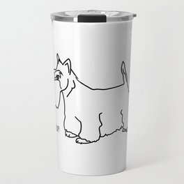 Woof Scottish Terrier Travel Mug