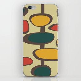 Mid Century Modern Baubles (gold) iPhone Skin