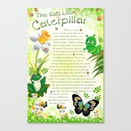 Tale-on-a-poster / The Sad Little Caterpillar Canvas Print