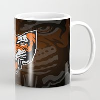 ohio state Mugs featuring Ohio Bengal by Griggitees