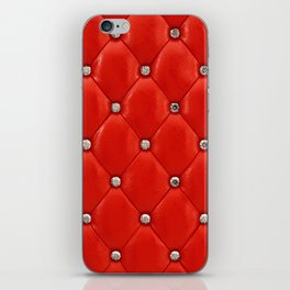 Red upholstery pattern iPhone Skin