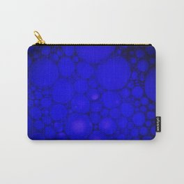 Blue Oil on Water Droplets Abstract Carry-All Pouch