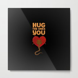 Facehugger Metal Print
