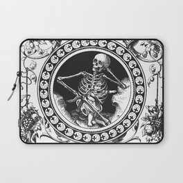 1861 Death Skeleton Black Laptop Sleeve