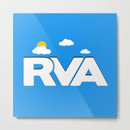 Rva Logo | ' Game Style ' Metal Print