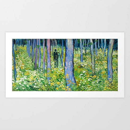Vincent Van Gogh - Undergrowth with Two Figures Art Print