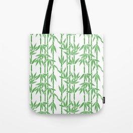 Bamboo Rainfall in White/Sullivan Green Tote Bag