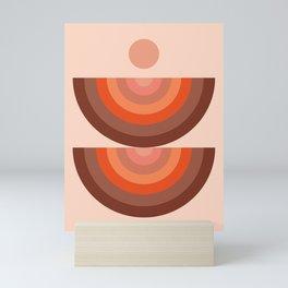 Abstraction_SUN_Rainbow_Minimalism_001 Mini Art Print