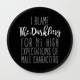 High Expectations - The Darkling Black Wall Clock