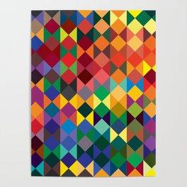 P1: Sunset Diamonds Poster