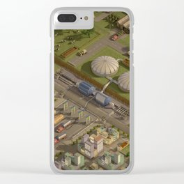 Biogas City Clear iPhone Case
