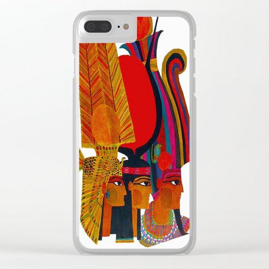 Vintage Egypt Headdress Travel Clear iPhone Case