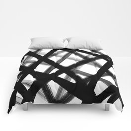 Criss Cross Black and White Comforters