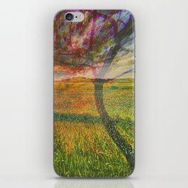 field and tree iPhone Skin