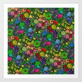Prismatic Botanic Garden Art Print