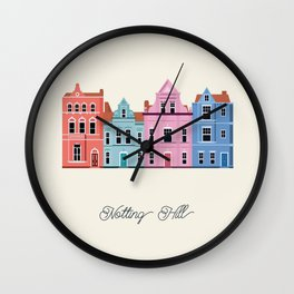 Vector Cities - Notting Hill Wall Clock