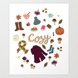 Cozy autumn days fall has arrived. Art Print