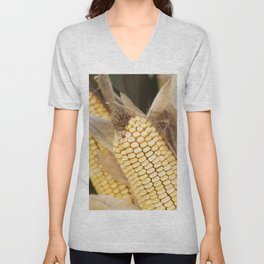 cobs and corn in the farm Unisex V-Neck