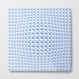 Minimalist Blue Pegasus Bubble Print Metal Print