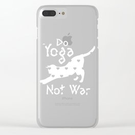 Cat Lover Do Yoga Not War Toga Lover Clear iPhone Case
