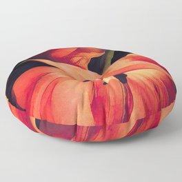 Orange Sentinels Floor Pillow