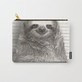 Sloth in a Mugshot Carry-All Pouch