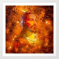 jesus Art Prints featuring Jesus by Saundra Myles