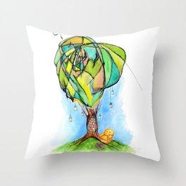 A Bookworm's Dream Throw Pillow