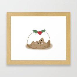 Christmas Pudding Framed Art Print