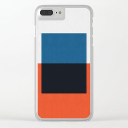 Blue and red composition XXI Clear iPhone Case