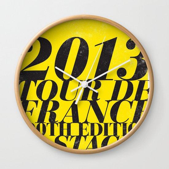 2013 Tour de France: Maillot Jaune Wall Clock