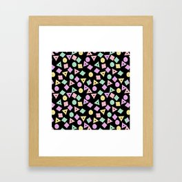 Mikkel - pastel shapes minimal abstract pattern design charlotte winter prints Framed Art Print