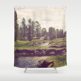 Down Time's Quaint Stream Shower Curtain