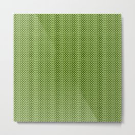 Knitted spring colors - Pantone Greenery Metal Print