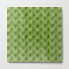 Knitted spring colors - Pantone Greenery Metal Print