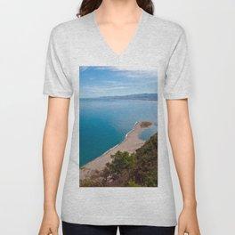 White Lagoon of Tindari on the Isle of Sicily Unisex V-Neck