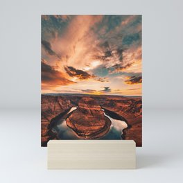horse shoe bend canyon Mini Art Print