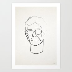 One Line Lou Reed Art Print