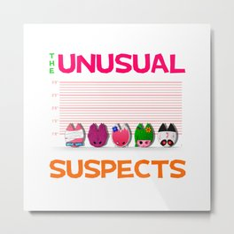 The Unusual Suspects Metal Print