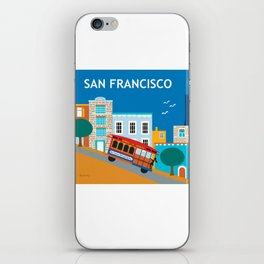 San Francisco, California - Skyline Illustration by Loose Petals iPhone Skin
