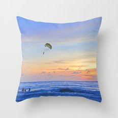 Sunset on Patong Beach Throw Pillow