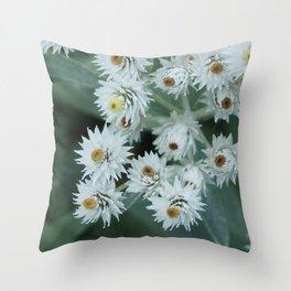 Tiny White Starbursts Throw Pillow