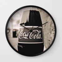 coca cola Wall Clocks featuring Coca-Cola closer by Vorona Photography