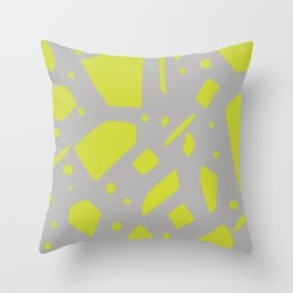Chartreuse terrazzo Throw Pillow